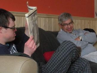 Marc e Arthur in un momento di siesta post pranzo