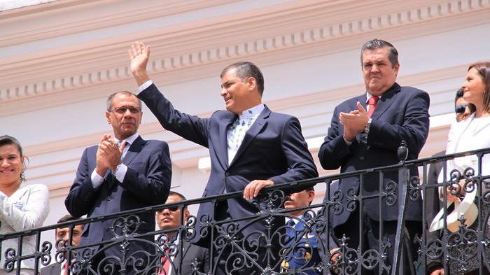 Il presidente Rafael Correa (foto Moiola)