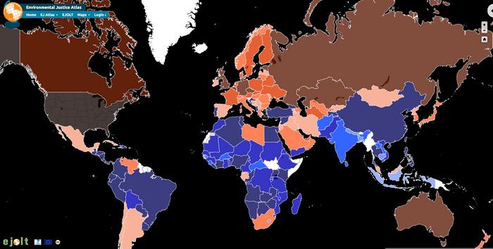 Mappa della responsabilità sul clima (Ejatlas)