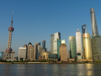 Skyline of Huangpu River and the Lujiazui Financial District with the Shanghai Tower, (Wang gang - Imaginechina)