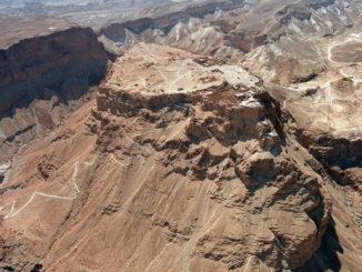 Veduda aerea della fortezza di Masada. Government_Press_Office_(GPO)