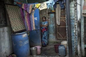 Durga Kund, un sobborgo di Manual Scavangers di Varanasi.