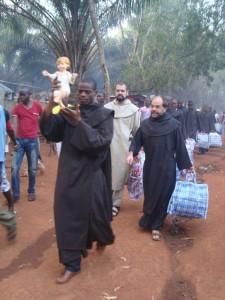 Natale 2014 nel campo profughi del convento dei carmelitani di bangui.